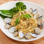 食譜。塔香蒜味蛤蜊義大利麵