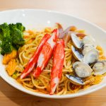 食譜。紅醬海鮮義大利麵