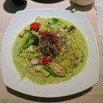 食譜。青醬時蔬野菇義大利麵