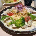 食譜。白醬蛤蠣義大利麵